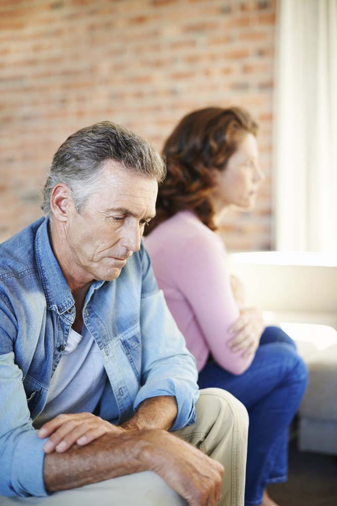 A mature couple experiences marital problems